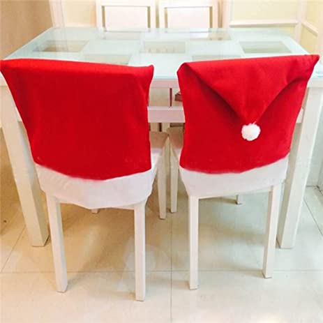 kitchen chair back covers. TraveT 1pc Red Santa Hat Chair Covers, Back Covers Kitchen For