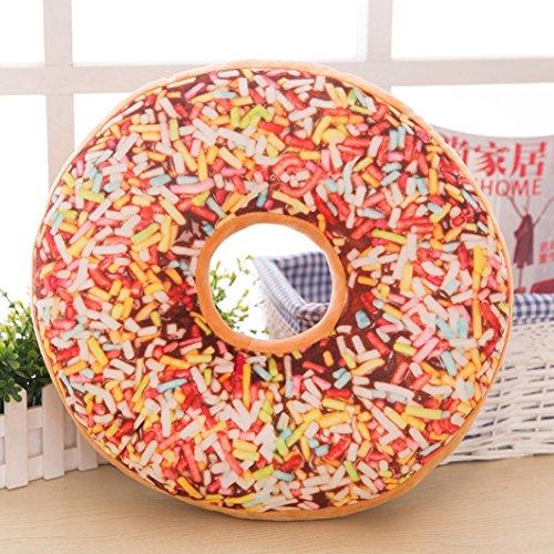 Inverlee Donut Shaped Pillow Soft Bolster Sofa Cushion Chair Seat Pad Home Decor (A)