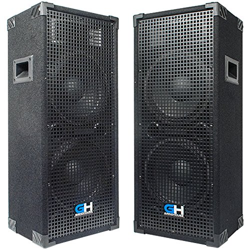 Grindhouse Speakers - GH210L-Pair - Pair of Passive Dual 10 Inch 2-Way PA/DJ Loudspeaker Cabinets  - 1050 Watt each Full Range PA/DJ Band Live Sound Speaker by Grindhouse Speakers