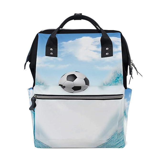 MALPLENA - Mochila de Viaje, diseño de balón de fútbol: Amazon.es ...