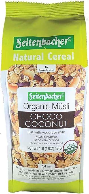 Seitenbacher Organic Muesli Choco Coconut Natural Cereal, 16 Ounce