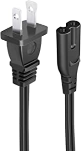 UL Listed 8.2ft Power Cord for HP Photosmart 6520 6525 5520 6510 5510 1115 1218 All-in-One Printer 2 Prong AC Power Cord Cable Replacement