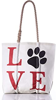 product image for Sea Bags Recycled Sail Cloth Paw Print Love Tote