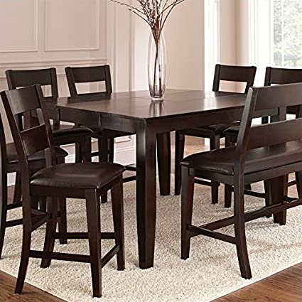 Amazon.com - BOWERY HILL Counter Height Dining Table with ...
