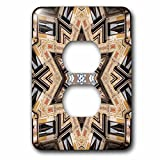 Phil Perkins - Religion - Architectural Star of David - Judaism star of David architecture design - Light Switch Covers - 2 plug outlet cover (lsp_243450_6)