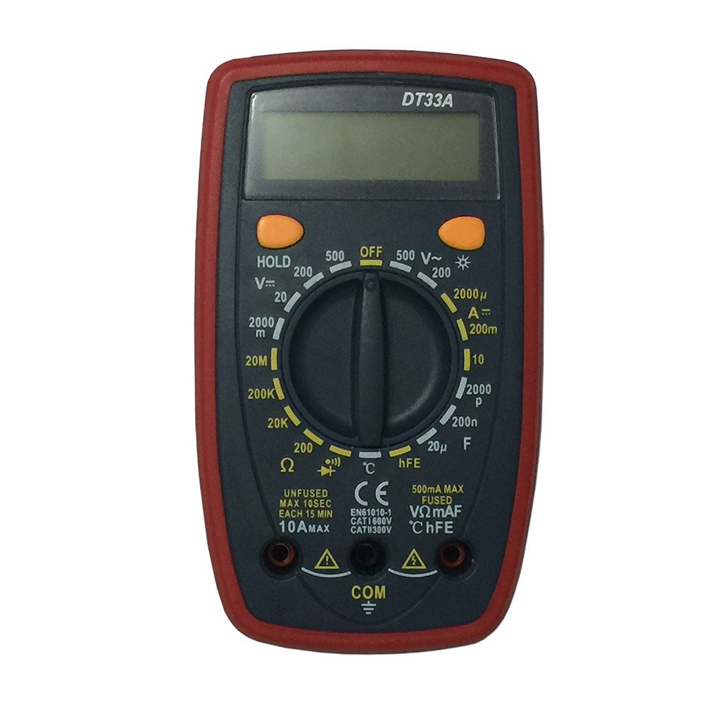 OLSUS DT33A LCD Handheld Digital Multimeter for Home and Car - Gray