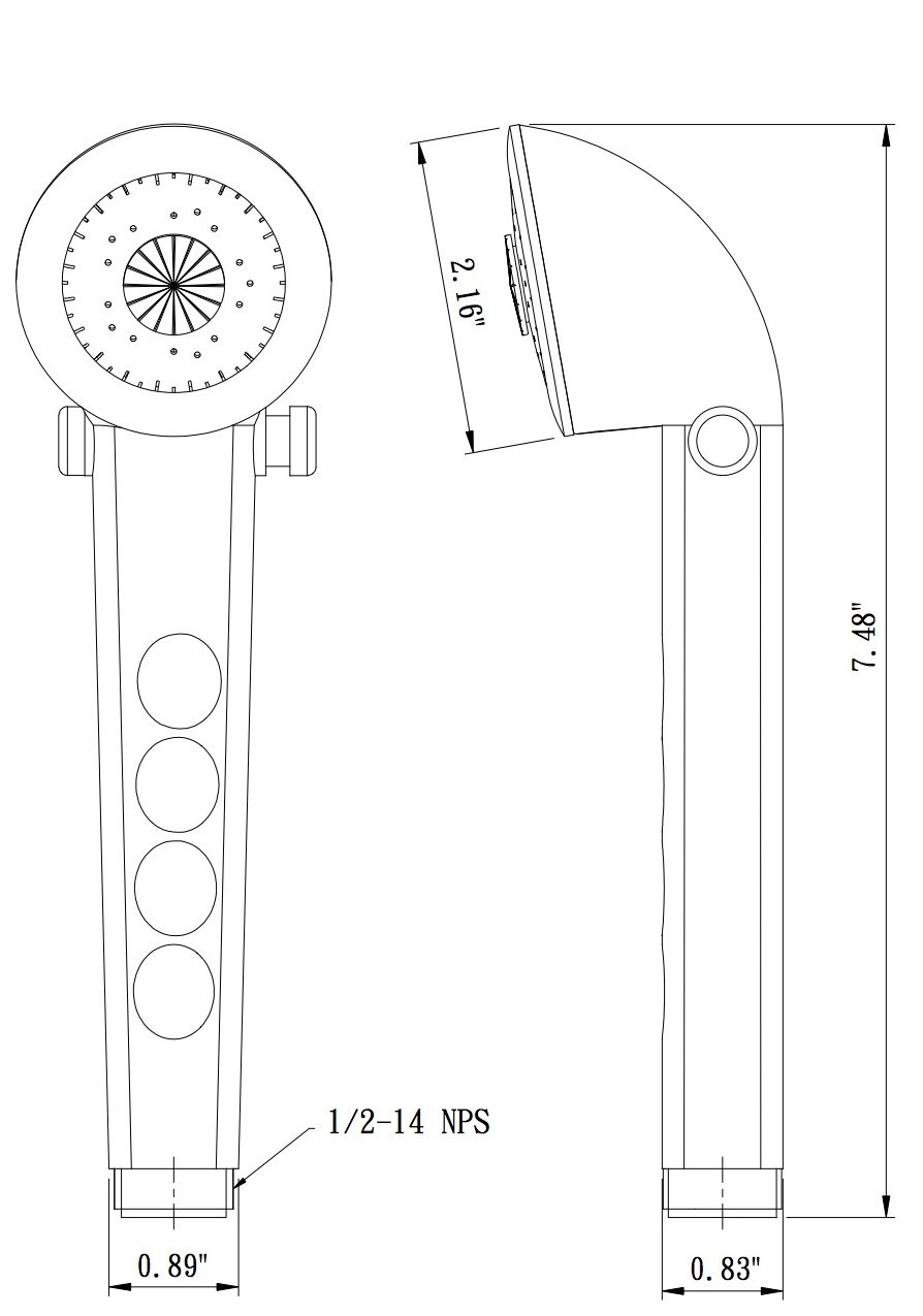 and Trailers Campers Dura Faucet Hand-held Shower Head White Motorhomes Perfect Replacement for Recreational Vehicles