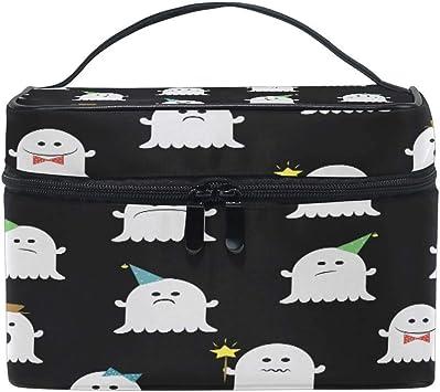Bolsa de Maquillaje, Divertido Cute Ghost Estuche de Viaje portátil Gran impresión Cosmética Bolsa Organizador Compartimentos para niñas Mujeres Señora: Amazon.es: Equipaje