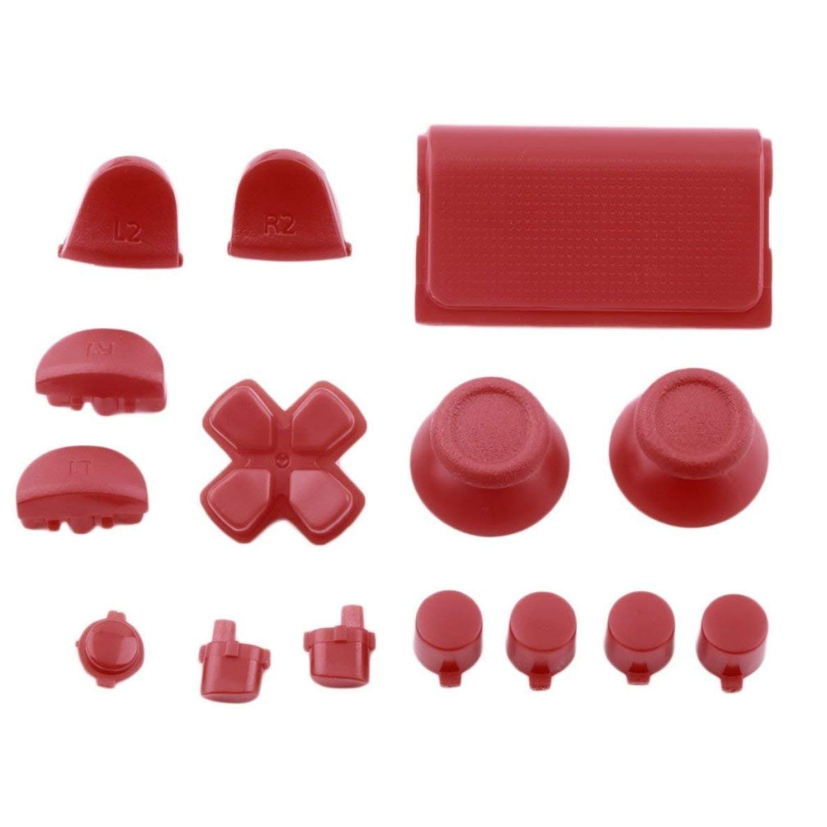 Replacement Buttons Custom Mold Kit for PS4 for Playstation 4 Controller Solid Color Plastic Gamepads Spare Parts Moliies