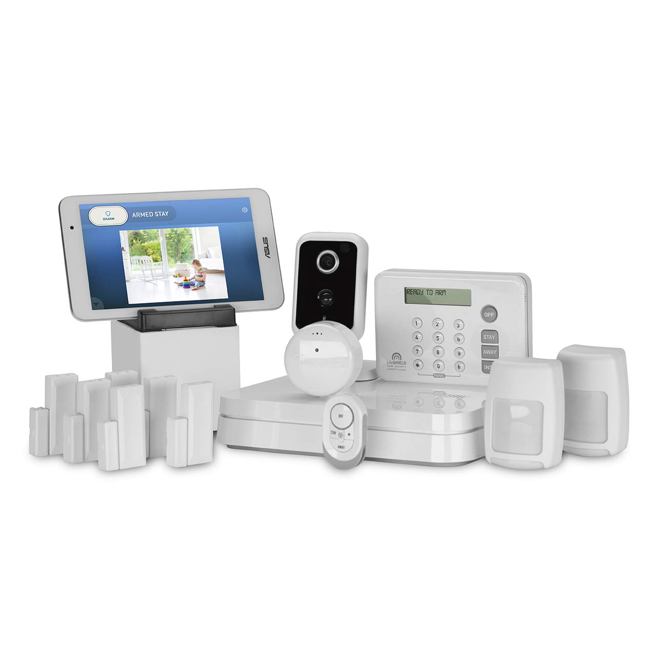LifeShield, an ADT Company - 15-Piece Easy, DIY Smart Home Security System - Optional 24/7 Monitoring - Smart Camera - No Contract - Wi-Fi Enabled - Alexa Compatible