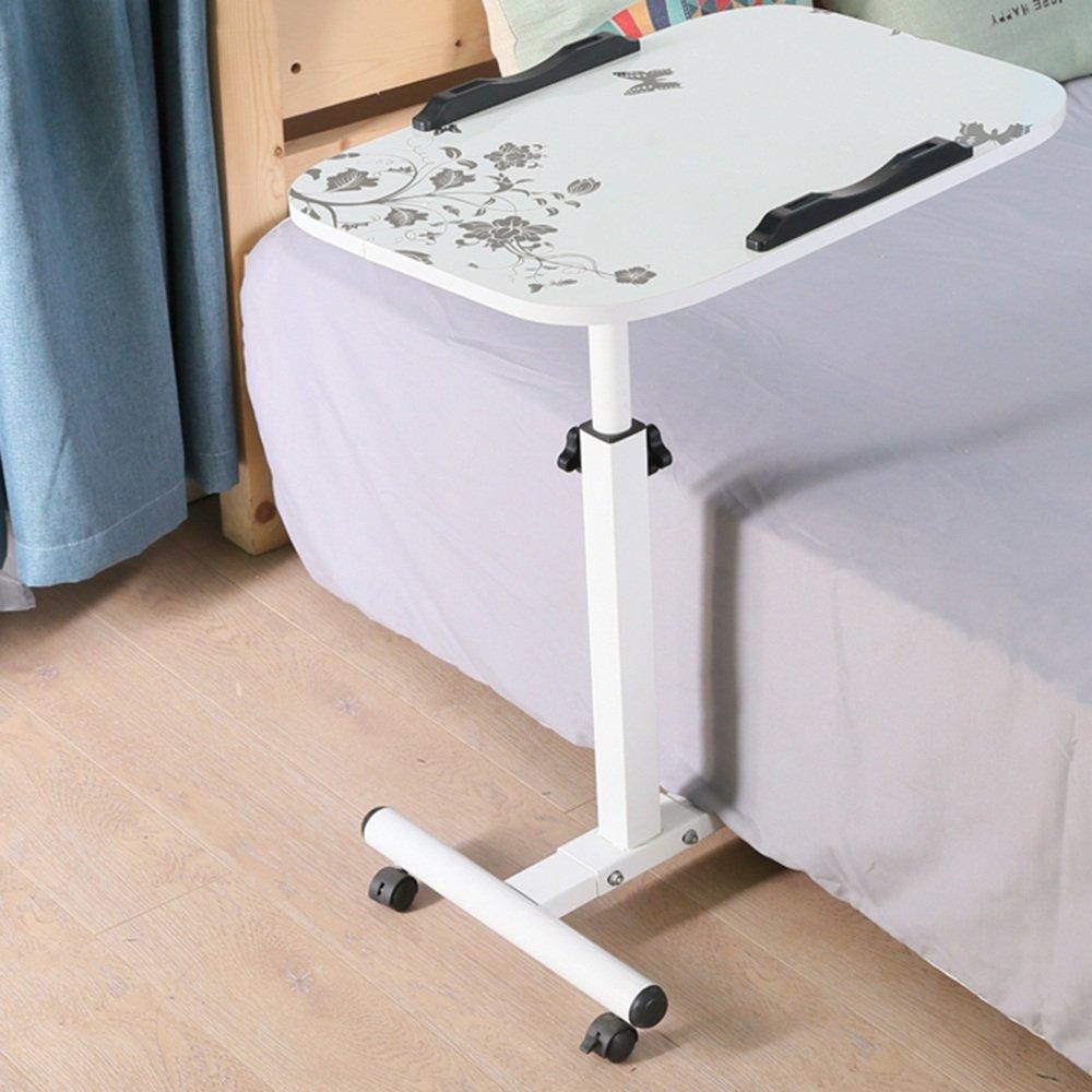 YNN ラップトップテーブル折りたたみテーブル怠惰なベッドデスクデスクトップの家庭用折り畳み式可動式ベッドサイドテーブル (色 : 白) B07DSGWLS8 白 白