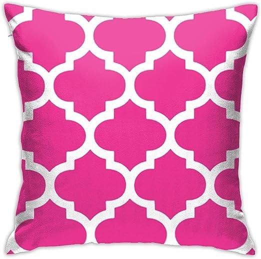 Zhgrong Funda de jardín Colorido Rosa marroquí Patio Funda de cojín Decorativo Fundas de Almohada Protectores: Amazon.es: Jardín