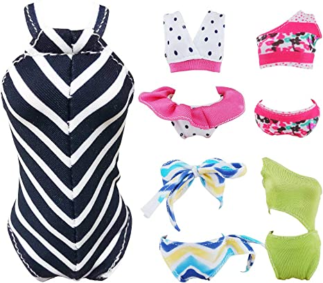 5 Set Summer Sport Shirts and Shorts Clothing for Doll Toy Random Style CDN
