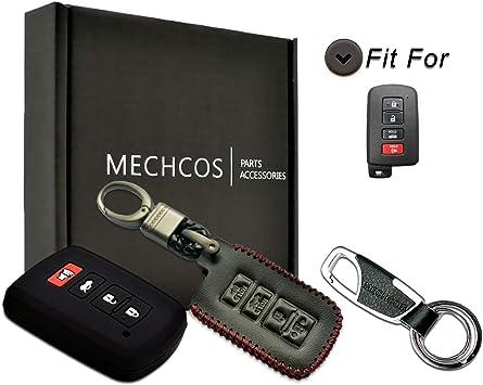 VSLIH Carbon Fiber Texture Remote Key Fob Cover Case Holder for Toyota Avalon Camry Corolla RAV4 Highlander Accessories