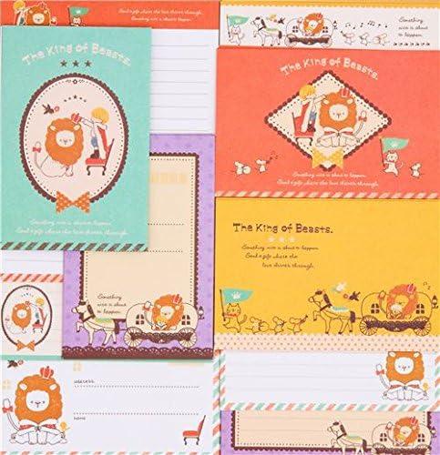 Süßes buntes Löwe Pferd Vogel Briefset von Q-Lia aus Japan