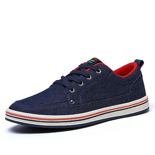 Zapatos De Lona para Hombre Zapatillas CóModas Primavera Verano Pisos Casuales Zapatos con Cordones para Caminar: Amazon.es: Zapatos y complementos