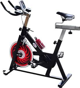 Homcom. Bicicleta estática profesional para spinning de 105 × 45 ...