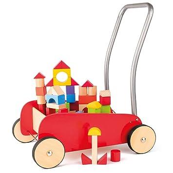 Hape International Andador Woody de construcción de Madera con lötzen Edler Unidad Carro a Partir de 1