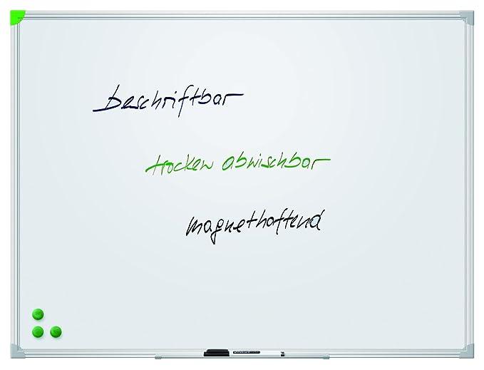 Franken SC2104 Schreibtafel Alurahmen mit Ablageleiste 200 x 100 cm magnethaftend schutzlackiert
