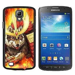 Caucho caso de Shell duro de la cubierta de accesorios de protección BY RAYDREAMMM - Samsung Galaxy S4 Active i9295 - Lobo Guerrero