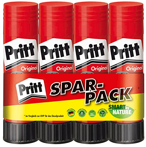 Pritt PK4MP Klebestift Bonuspack, 4 x 11 g
