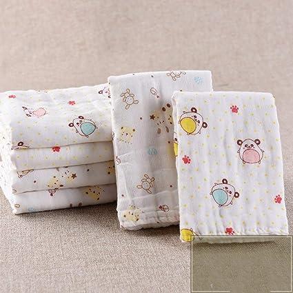 Zeyiwenhua Toalla De Baño Paquete de 6 Toallas de algodón, Gasa de Seis Capas para