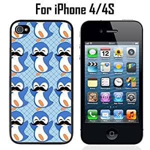 Penguin Mustache Trend Pattern Custom Case/ Cover/Skin *NEW* Case for Apple iPhone 5s Black - Plastic Case (Ships from CA) Custom Protective Case , Design Case-ATT Verizon T-mobile Sprint ,Friendly Packaging - Slim Case