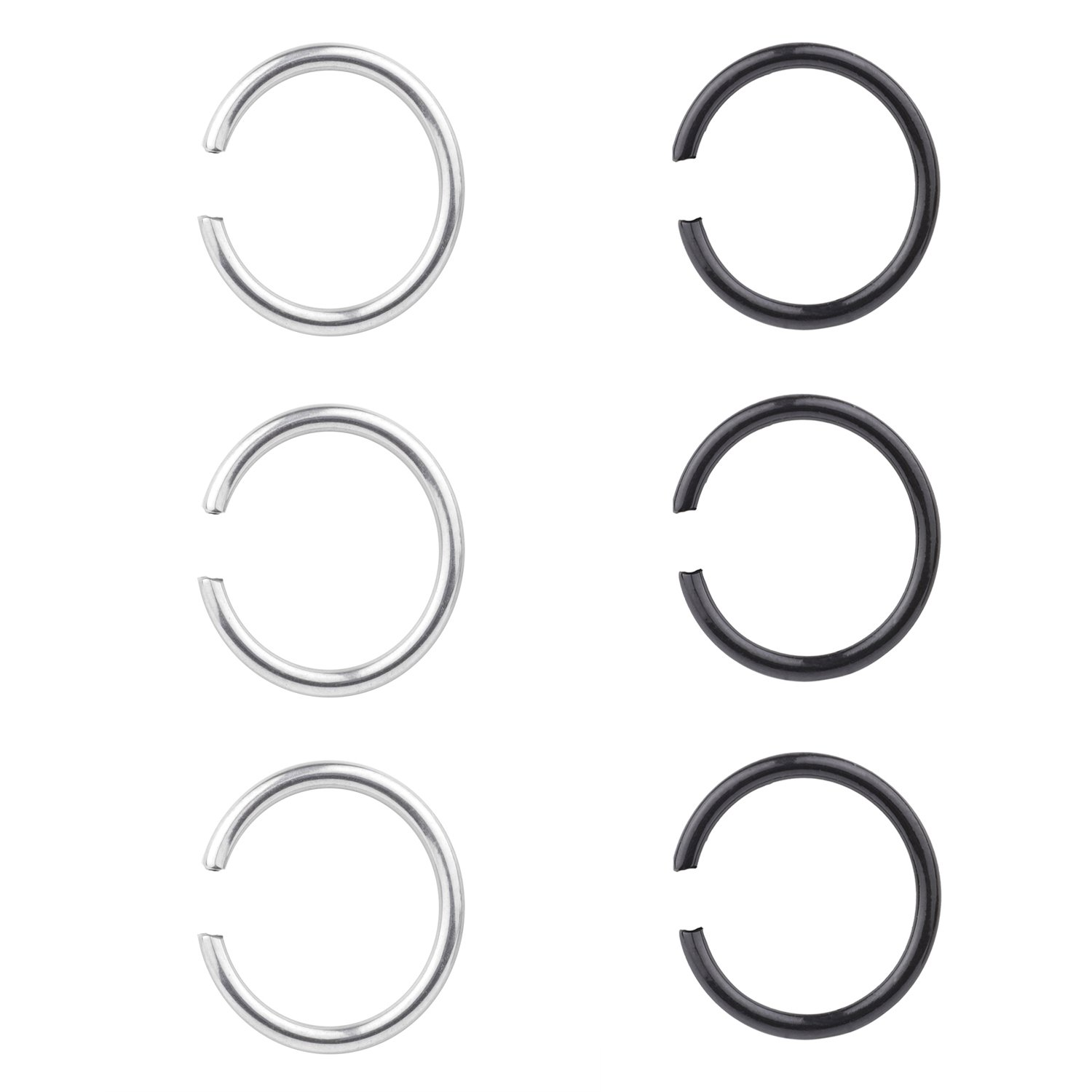 16G Surgical Stainless Nose Ring Non-Piercing Helix Cartilage Tragus Hoop Earrings 8mm
