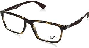 Ray-Ban 0Rx7017 Monturas de gafas, Marrón (Red Havana), 52 ...