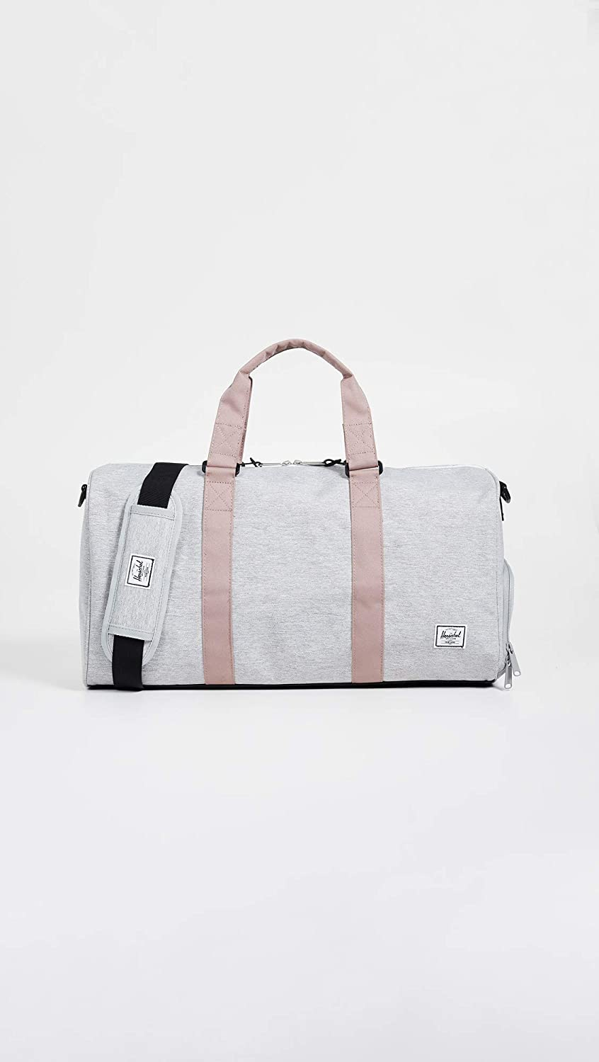 ac36cf2e9d9b Herschel Novel Mid-Volume Duffel Bag Light Grey Crosshatch/Ash Rose/Black  One Size