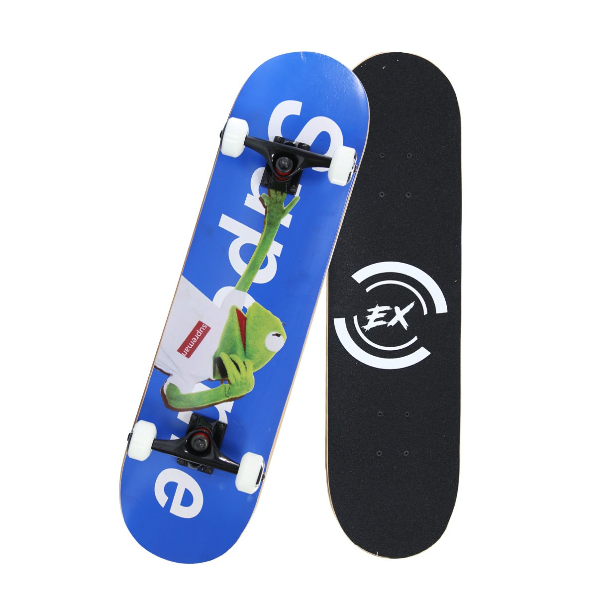 Pro Skateboard 31'' X 8'' Standard Skateboards Cruiser Complete Canadian Maple 10 Layers Double Kick Concave Skate Boards