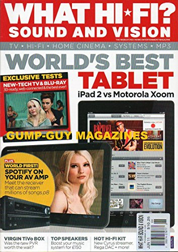 VISION UK Magazine June 2011 World's Best Tablet iPAD 2 VS MOTOROLA XZOOM Spotify On Your AV Amp VIRGIN TIVO BOX Top Speakers CYRUS STREAMER, REGA DAC Home Cinema Amps & Rec. ()