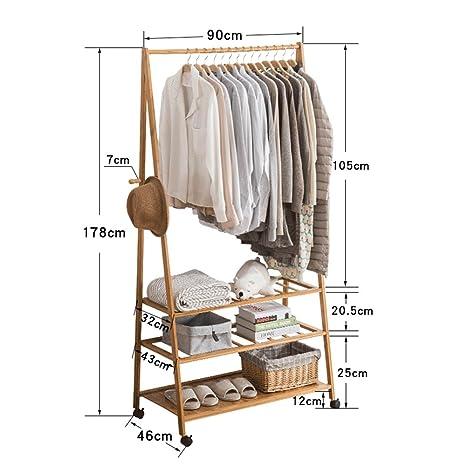 Amazon.com: Perchero con cremallera para ropa con 3 capas ...