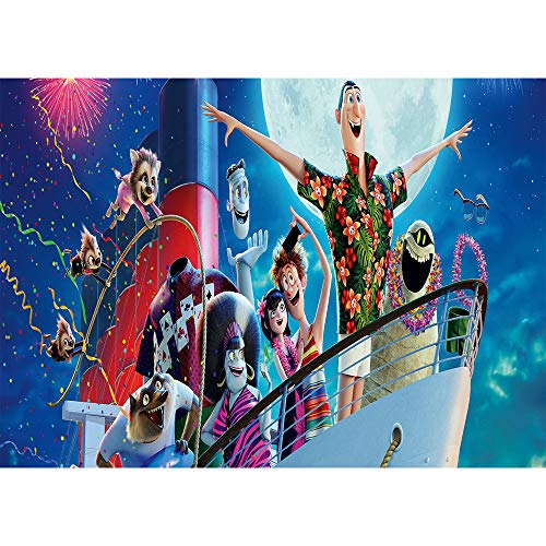 Hotel Photo - Photography Backdrop Hotel Transylvania Crazy Holiday Photo Background 7x5ft Firework Night with Animals Backdrops for Kids Birthday Banner