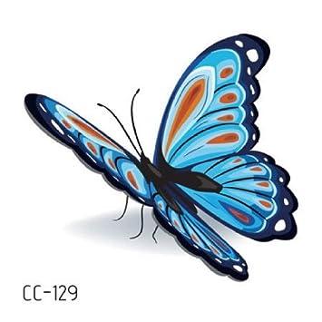 Hermosa flor mariposa tatuaje pegatina hermoso pequeño estudio ...