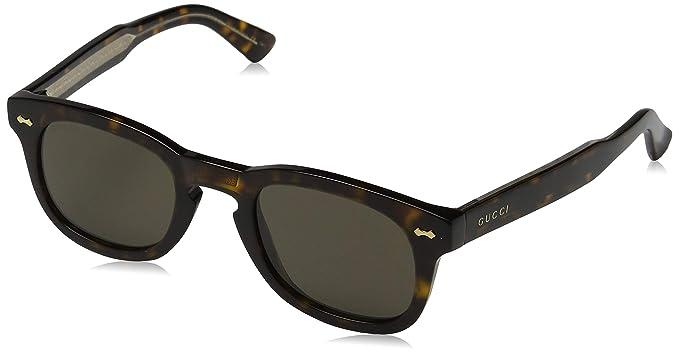 Gucci Unisex adulto GG0182S 003 Gafas de sol, Marrón (3 ...