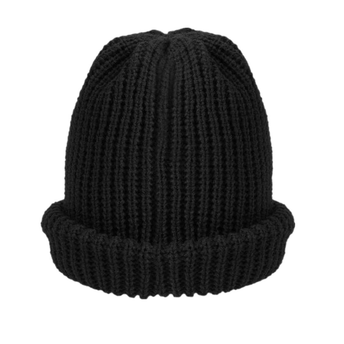 Unisex Knitted Winter Hats for Autumn Warm Casual Beanie Baggy Slouchy Elastic Hat