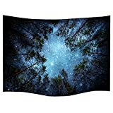 Celestial Galaxy Night Sky Full of Stars Wall Tapestry Sublime Forest Nature View Hanging Artistic Home Décor