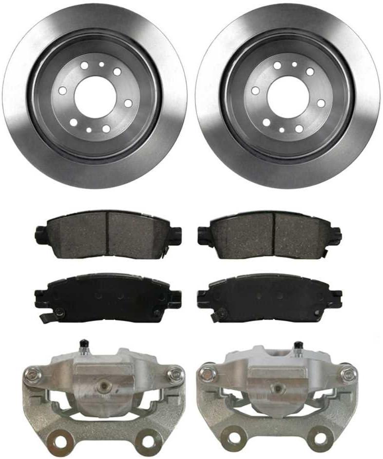 AutoShack BCPKG00758 Rear Brake Rotors Calipers and Ceramic Pads