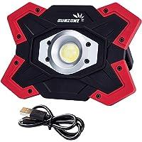 SUNZONE 20Watt Portable LED COB Work Light,Outdoor Waterproof Flood Lights, for Camping,Hiking,Car Repairing,Workshop…
