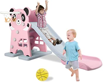 Lazy Buddy Plastic Slide Outdoor Playset