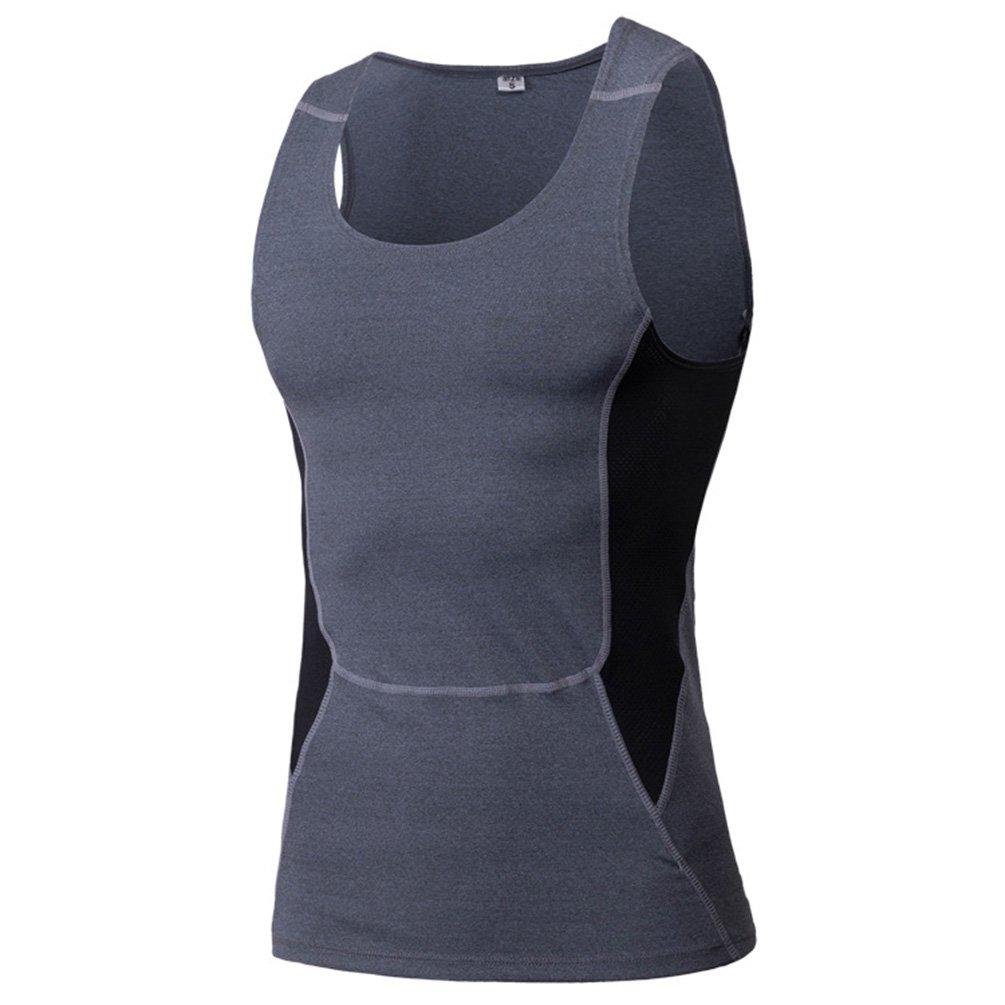 YiJee T-Shirt sans Manches pour Homme Pro Combat Core Compression