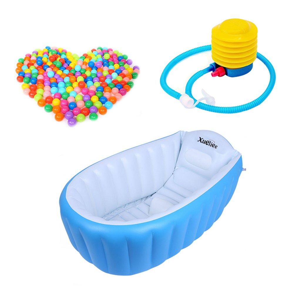 mit Kissen-Platz f/ür 1 zusammenklappbar xueliee Aufblasbare Baby-Badewanne mit Luft im Schwimmbad-Dicke Kind Baby Kleinkind 4/Jahre