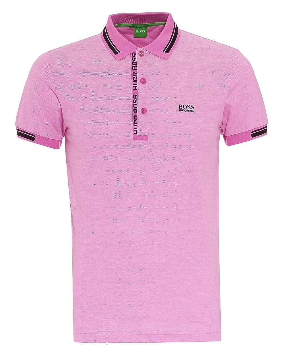 a38ba3186 BOSS Hugo Green Mens Paule 4 Polo, Oxford Pique Open Purple Pink Polo  Shirt: Amazon.co.uk: Clothing