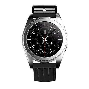 Kivors Reloj Inteligente, Bluetooth Smartwatch con Monitor de Ritmo Cardíaco Fitness Deportes Tracker Ver Actividad Ejecutando Monitor de Sueño ...