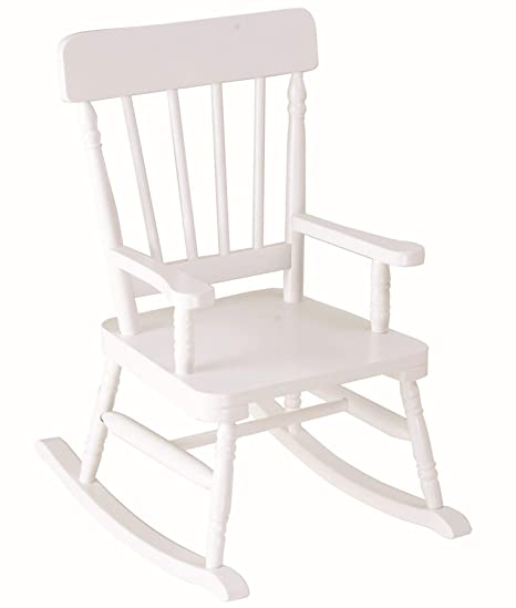 Superb Amazon Com Wildkin Kids White Wooden Rocking Chair For Boys Dailytribune Chair Design For Home Dailytribuneorg