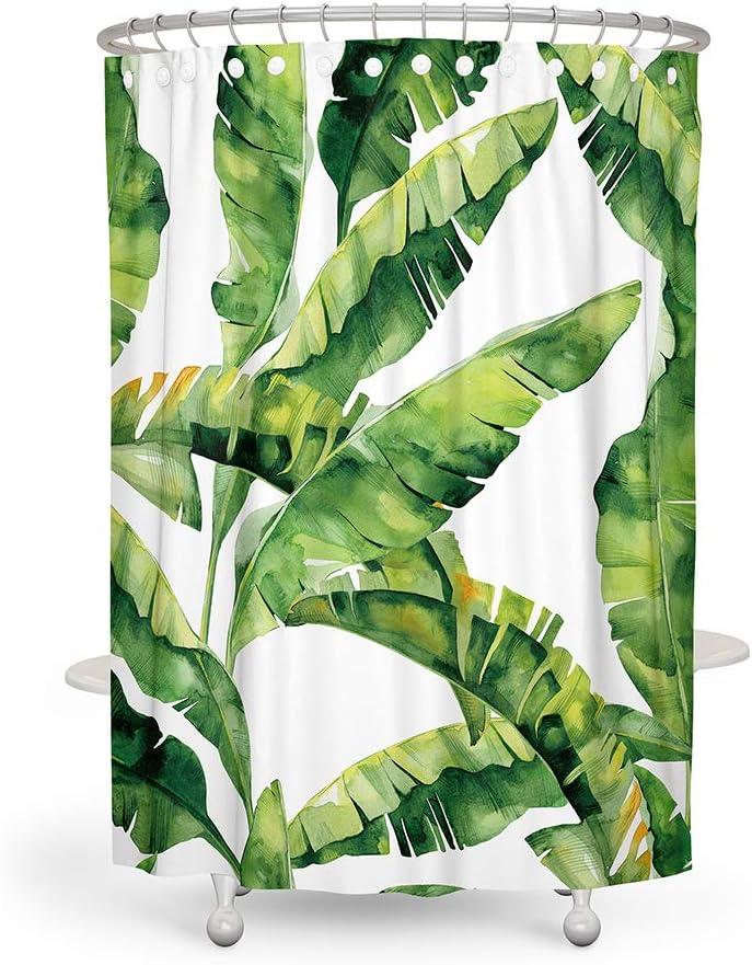 Blaue Blume JOTOM Wasserdichtes Polyester-Badvorhang mit Haken Duschvorhang f/ür Badezimmerdekor,180cmx180cm