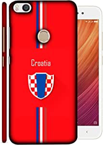 ColorKing Xiaomi Mi Max 2 Football Red Case shell cover - Fifa Croatia 01