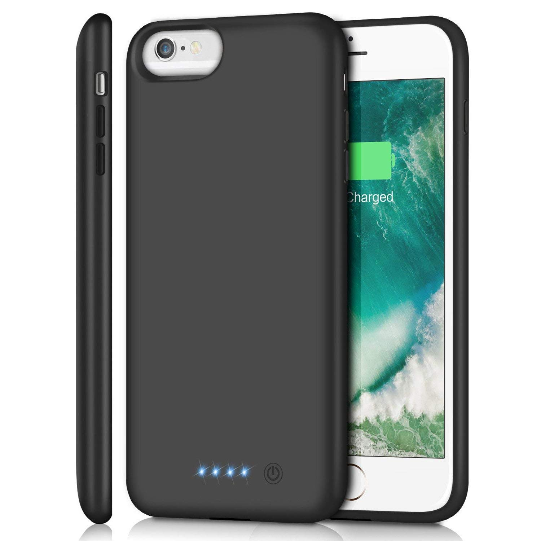 Battery Case for iPhone 6s Plus/ 6 Plus/ 7 Plus/ 8 Plus 8500mAh, Rechargeable Charging Case for iPhone 6Plus Battery Pack Apple 6s Plus Portable Power Bank 7Plus 8Plus by Pxwaxpy