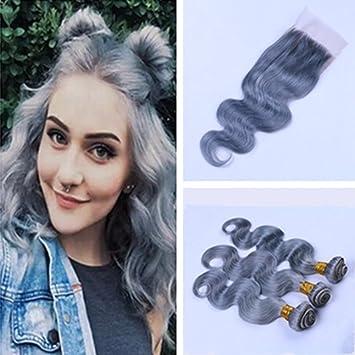 Amazon ruma hair pure grey hair weave 3 bundles with 4x4 ruma hair pure grey hair weave 3 bundles with 4x4 lace closure silver grey pmusecretfo Images
